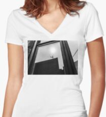 Reflection in a Window Women's Fitted V-Neck T-Shirt