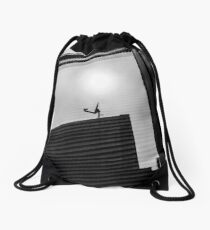 Reflection in a Window Drawstring Bag