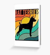 Rat Terrier Dog Vintage Gift Pet Lover Greeting Card