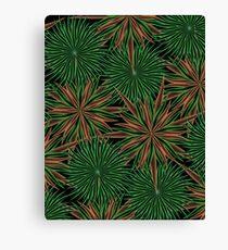 Dizzy Green Paper Canvas Print