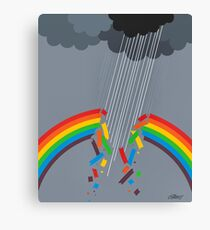 BROKEN RAINBOW - BRUSH AND GOUACHE Canvas Print