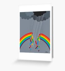 BROKEN RAINBOW - BRUSH AND GOUACHE Greeting Card