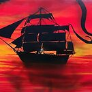 Kraken at Sunset by DakineFineart