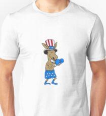 Democrat Donkey Boxer Mascot Cartoon T-Shirt