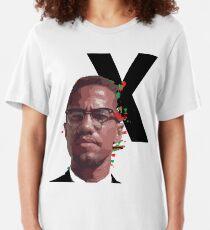 Malcolm X Power Slim Fit T-Shirt