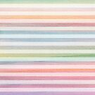 Soft Stripes Colorful Watercolor Pattern by blueskywhimsy