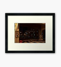 Stop Here on Red Framed Print