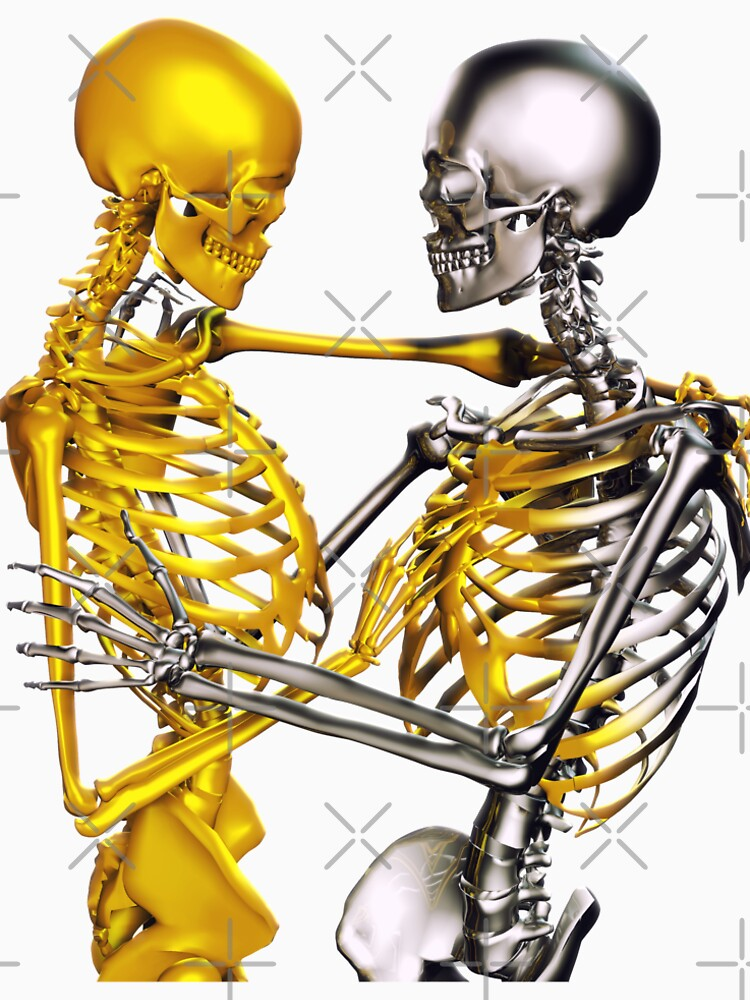 Golden Touch Skeletons in love by illustrart