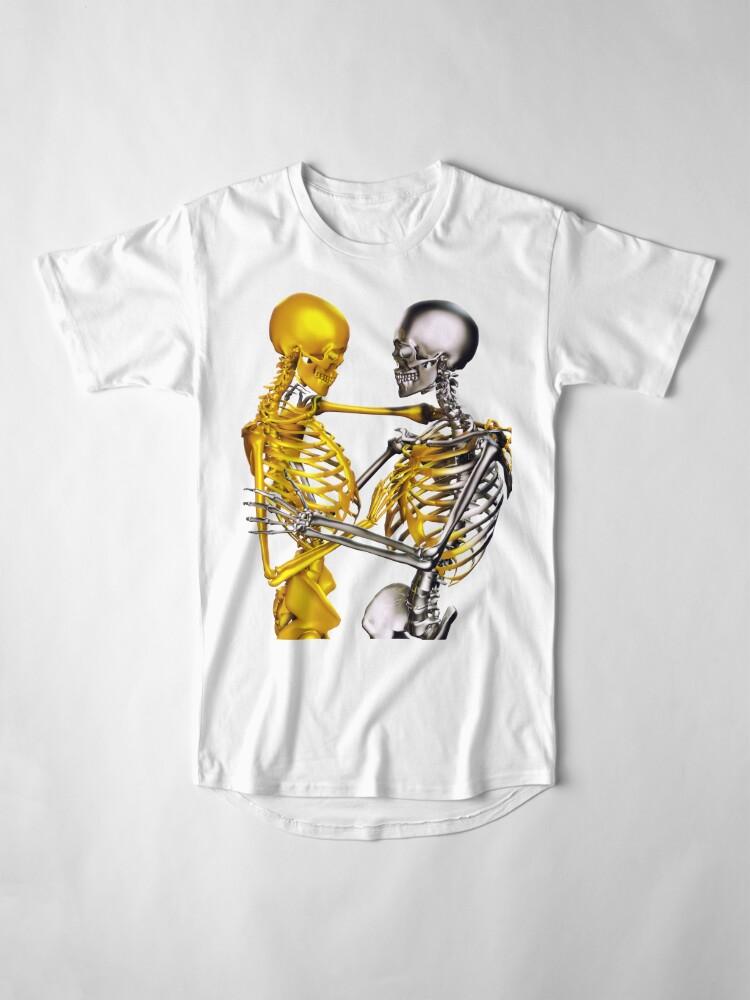 Alternate view of Golden Touch Skeletons in love Long T-Shirt