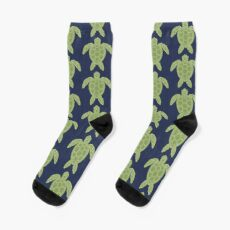Green Sea Turtle Design Socks