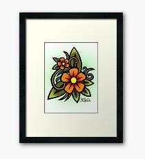 Flowers Dull Framed Print