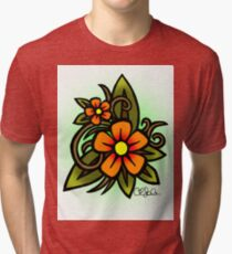 Flowers Dull Tri-blend T-Shirt