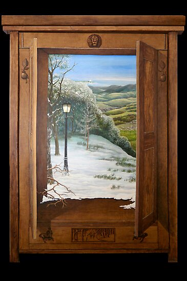 'Through the Wardrobe' - Fantasy, trompe l'oeil style by Gary Latimer