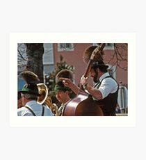 Music Man - Berchtesgaden Germany  -1985 Art Print