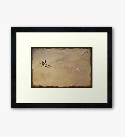 A walk on the dark side of the moon Framed Print