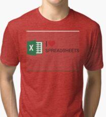 Spreadsheet Love Tri-blend T-Shirt