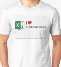 Spreadsheet Love Unisex T-Shirt