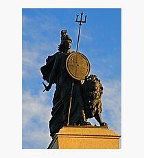 Statue of Britannia in Plymouth, Devon, UK Photographic Print