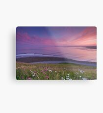 Sunset Surf at Lawrencetown Beach Metal Print