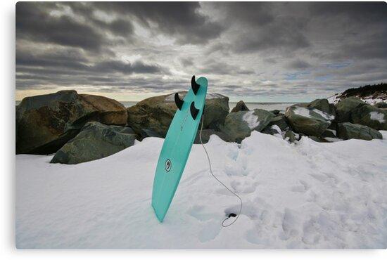 Surfboard in the Snow by NovaScOcean