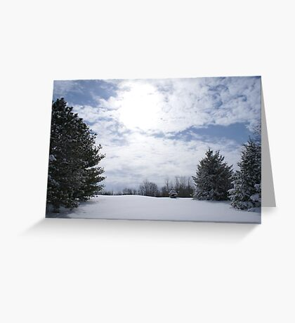 snow blind in indiana Greeting Card
