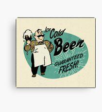 Vintage Beer Sign Canvas Print