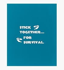 Stick Together…For Survival Photographic Print