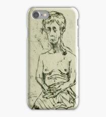 fara monoprint  - sitting in sari iPhone Case/Skin