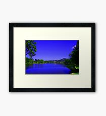 Furman University Lake and Bell Tower Framed Print