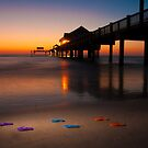 """Small Steps"" - flip flops on Clearwater Beach, Florida by ArtThatSmiles"