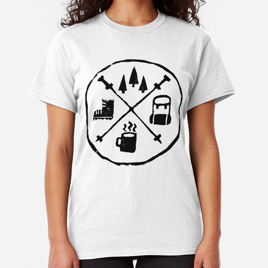 Hiking coat of arms Classic T-Shirt