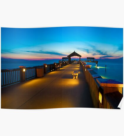 """""""Peer To Forever"""" - Pier 60 on Clearwater Beach Florida Poster"""