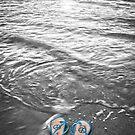"""Peace Walk"" - peace flip flops on beach by ArtThatSmiles"