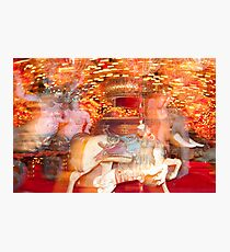 """""""Carousel Dreams"""" - merry go round at Spring Green, WI Photographic Print"""
