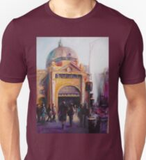 Morning bustle Flinders street Station Melbourne T-Shirt