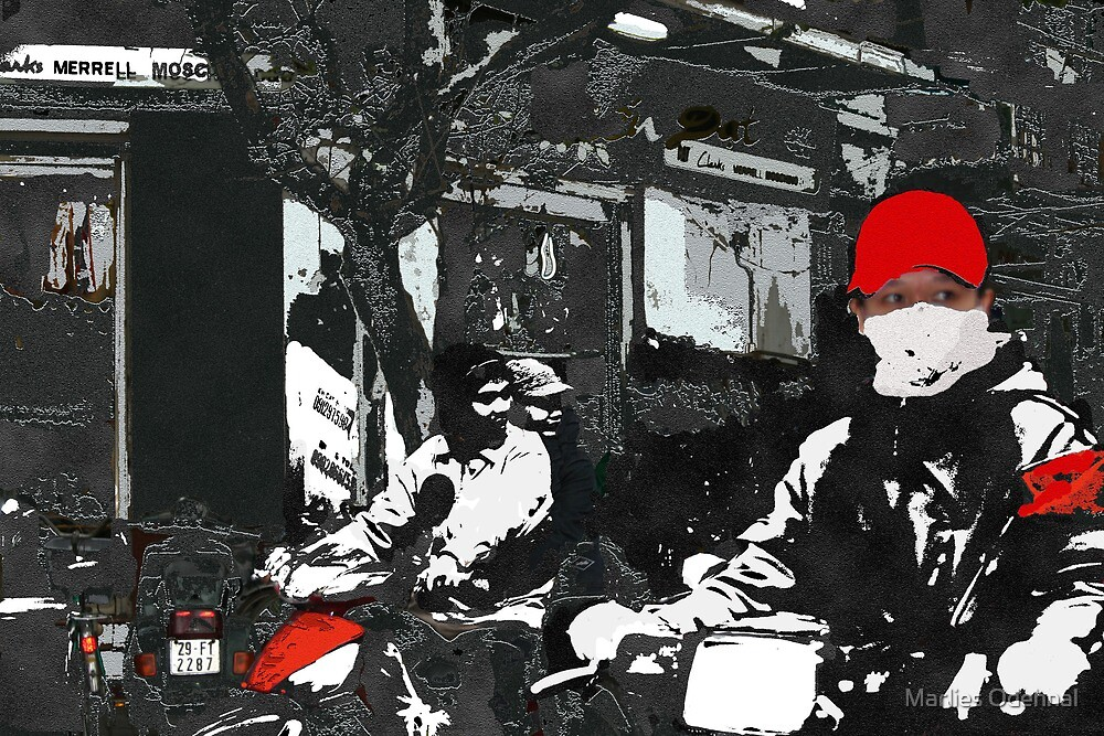Moped driving in Vietnam by Marlies Odehnal
