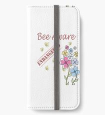 Save the Bees iPhone Wallet/Case/Skin