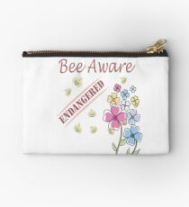 Save the Bees Zipper Pouch