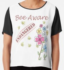 Save the Bees Chiffon Top