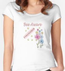 Save the Bees Fitted Scoop T-Shirt