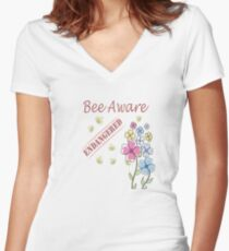 Save the Bees Fitted V-Neck T-Shirt
