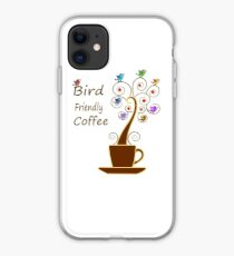 Save Birds' Habitats with Bird Friendly Coffee iPhone Case