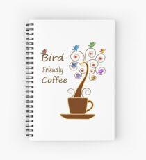 Save Birds' Habitats with Bird Friendly Coffee Spiral Notebook