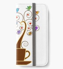 Save Birds' Habitats with Bird Friendly Coffee iPhone Wallet/Case/Skin