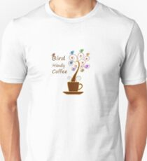 Save Birds' Habitats with Bird Friendly Coffee Slim Fit T-Shirt