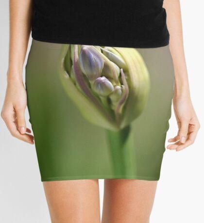 flower-agapanthus-bud Mini Skirt