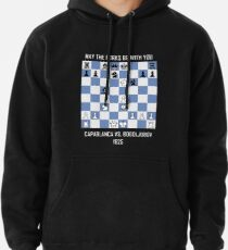 """""""May the Forks Be With You"""" - Capablanca vs Bogoljubov Game (1925) Funny Chess Pullover Hoodie"""