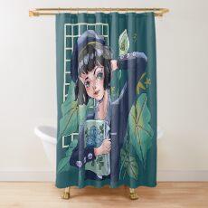 Aesthetic black girl Shower Curtain