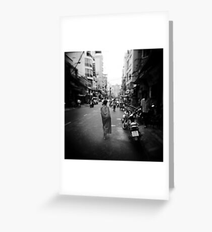 Monk Saigon Vietnam Greeting Card