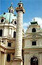 Karlskirche, Vienna, Austria (2) by Margaret  Hyde